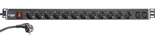 Adam Hall Accessories 874714 Stromverteiler mit 12 SCHUKO DOSEN + IEC DOSEN