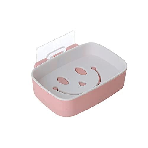 Caja de jabón Platos de jabón de drenaje de pared de esponja de esponja de pared de pared del rack de esponilla del rache del baño del rack de cabina del baños del jabón del snowing ( Color : White )