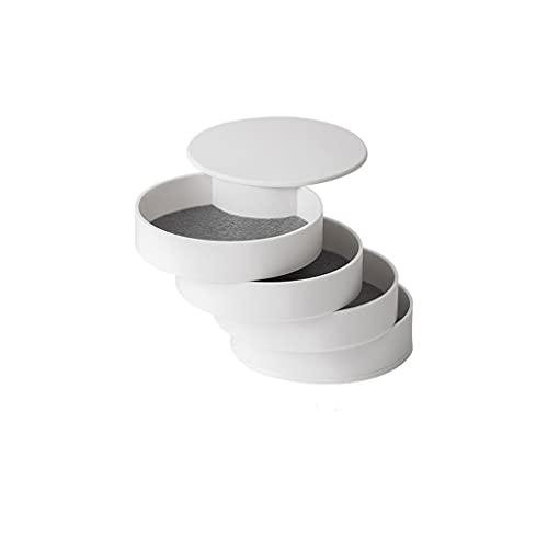 FCBF Caja de Almacenamiento de joyería Simple, Caja de joyería giratoria de 4 Capas, Caja de joyería portátil de Alta Gama, for Damas y niñas (tamaño : 0.8 * 3.9 * 3.9in)