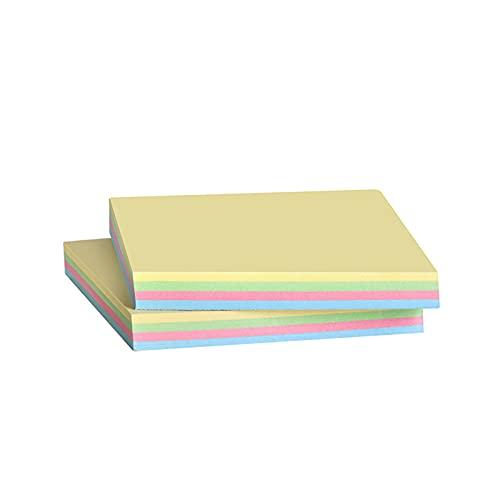 Foglietti Adesivi,moinkerin 200 Pezzi Segnapagina Adesivi Colorati Blocchetti Memo Adesivi per Scrivania, Ufficio, Scuola e Promemoria, 76 x 76 mm 4 Colori (76X76mm, 200 Pezzi)