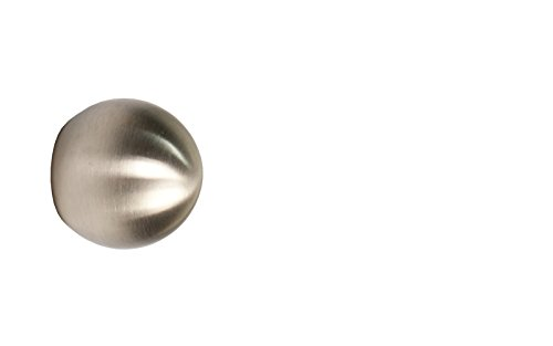 iso-design Edelstahl Endstück Kugel für 12 mm Gardinenstangen – Set 2