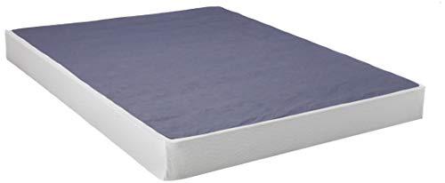 Best Price Mattress Box Spring/Mattress Foundation/Easy Assembly - 7 Inch, Queen, Navy/White