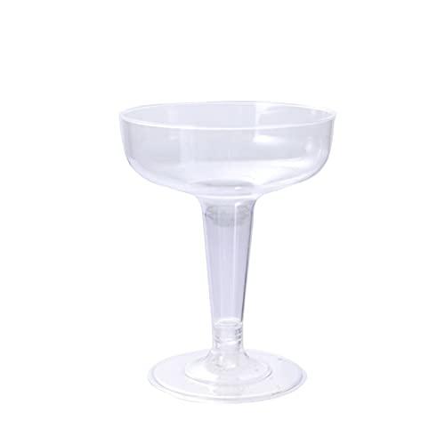 ZIS Copas de cóctel de champán Desechables de 42 / 18pcs Copas de cóctel de champán Desechables adecuadas para la Fiesta de Bodas (Transparente) (Color : As Shown)