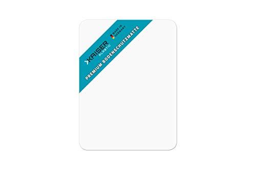 KAISER PLASTIC Premium Bodenschutzmatte transparent | TÜV-Zertifiziert | für Hartboden | 115 x 135 cm
