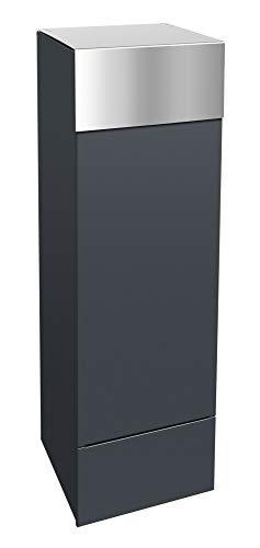 frabox Design Paketkasten Namur anthrazit/edelstahl