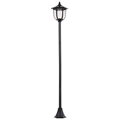 Outsunny Outdoor Garden Solar Post Lamp Sensor Light LED Lantern Bollard Pathway Torch Light 1.77m Tall