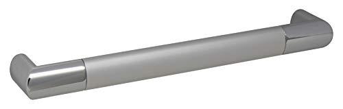 Gedotec Stangengriff Aluminium - Chrom Möbel-Griff Küche BA 212 mm Schrankgriff - PAUL | Moderner Schubladengriff verchromt - Alu eloxiert | 1 Stück - Küchengriff für Schrank-Türen inkl. Schrauben