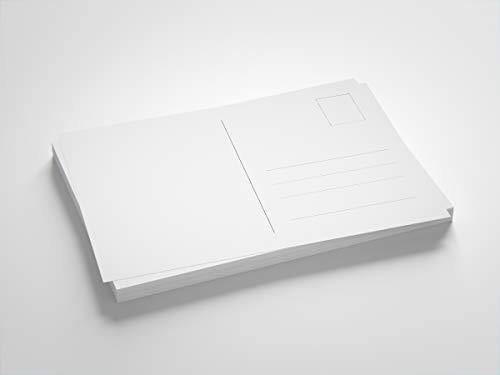 Blanko Postkarten weiß, Format DIN A6, zum Selbstgestalten oder Bedrucken (100 Stück)