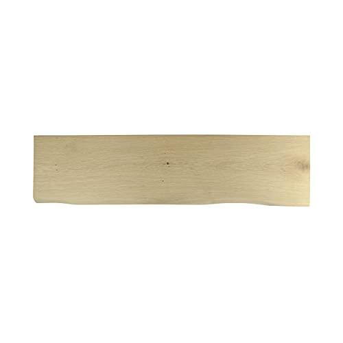 Natural Goods Berlin - Estante de madera maciza de roble con bordes naturales, para salón, comedor, cocina, salón o habitación infantil, 20-25 cm de profundidad, 60 cm de ancho