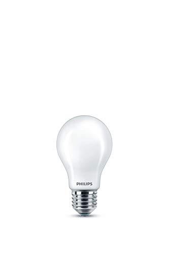 Philips LED Bombilla estándar mate, consumo de 10,5W equivalente a 100 W de una bombilla incandescente, casquillo gordo E27...