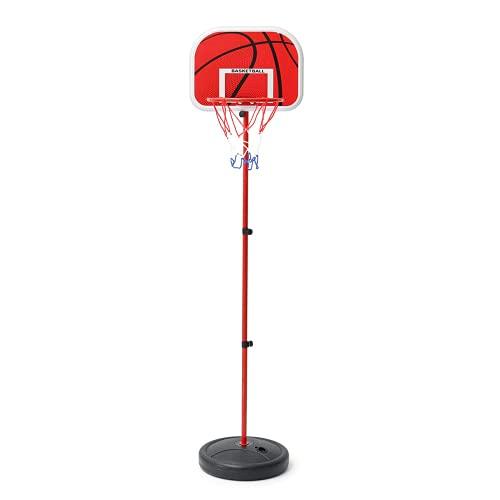 PQXOER Aro de baloncesto 200 cm aro de baloncesto anillo ajustable kit niños soporte soporte juego juguete mejor regalo