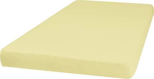 Playshoes 770320-12 Jersey-Spannbettlaken, Wasserdicht und Atmungsaktiv, 60 x 120 cm, gelb, gelb