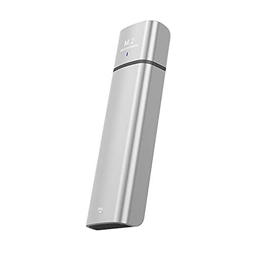 SJZERO Caja de Caja de Disco Duro Type-C Caja de Caja Externa SSD a USB M.2 para NVME NGFF PCIE M Key M.2 SDD 2230/2242/2260/2280