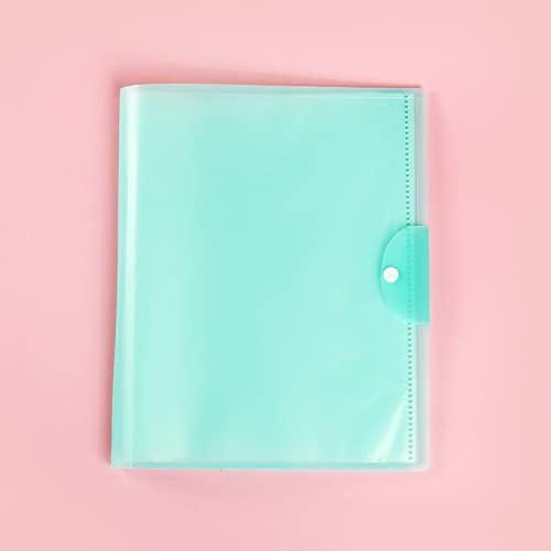 MEYYY Confezione da 4 sacchetti formato A3 per documenti e documenti con bottone a pressione per documenti di cancelleria, organizzazione, con 20 tasche, colore: verde