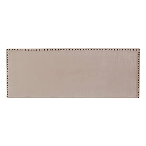 Cabecero tapizado con Tachuelas de Terciopelo Beige para Cama de 135/150 cm - LOLAhome