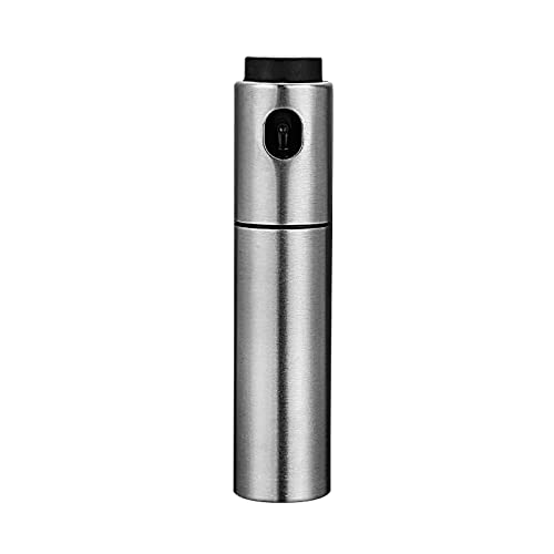 MARMODAY Dispensador de pulverizador de aceite de oliva en spray de aceite de botella de aceite de cocina no goteo, acero inoxidable, 100 ml