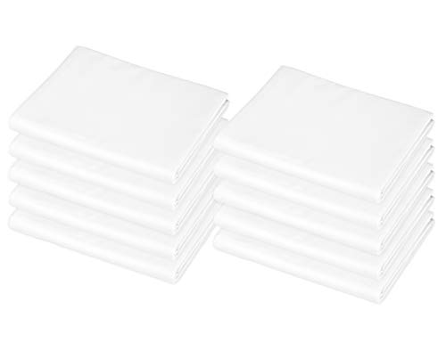 """American Baby Company 10-Piece Cotton-Polyester Blend, Toddler Size Daycare/Pre-School Cot Sheet, White, 23"""" x 40"""", for Boys and Girls"""