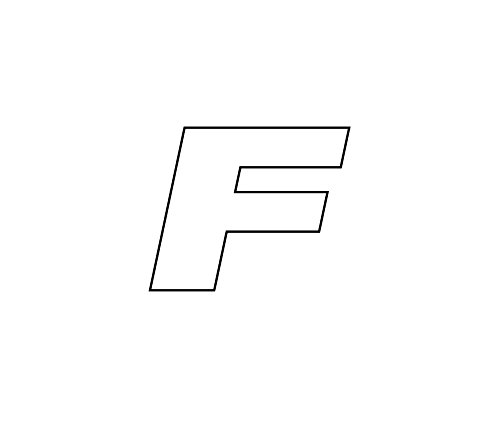 Simoni Racing ATF Tire Sticker Aufkleber für Reifen, Buchstabe F