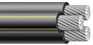 PER FOOT ALUMINUM Triplex URD brenau 1/0 1/0 2 Wire Cable Direct Burial XLP USE