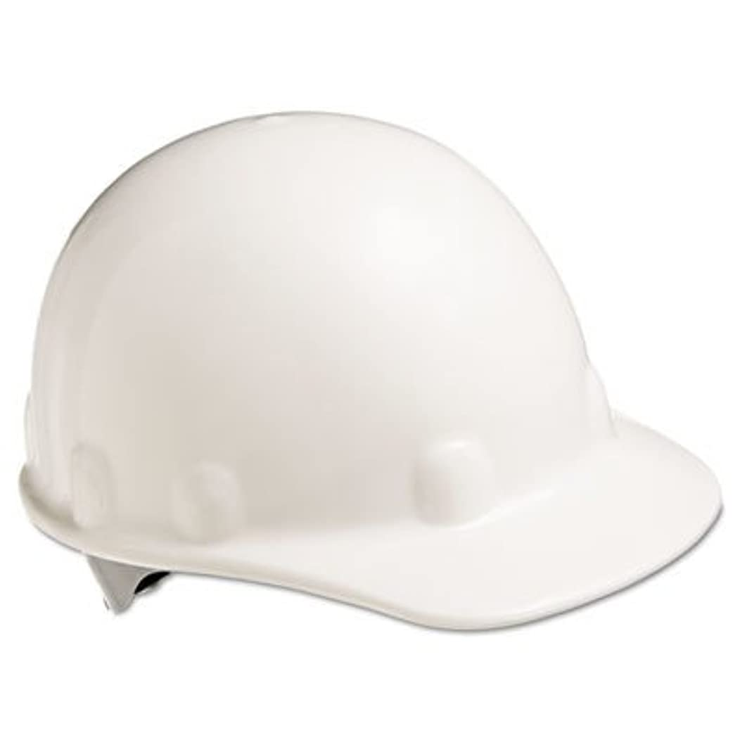 Honeywell E2RW01A000 Fiber-Metal Thermoplastic Hard Hat with 3-R Ratchet Suspension, Super Eight Class E, G or C Type I, Multiple, White