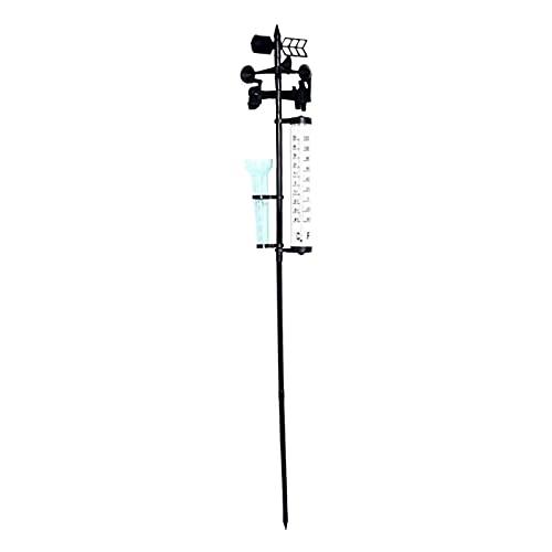 Baoblaze 3 en 1 estación meteorológica, termómetro, Veleta, estación meteorológica Decorativa para jardín al Aire Libre, Granja, Granero