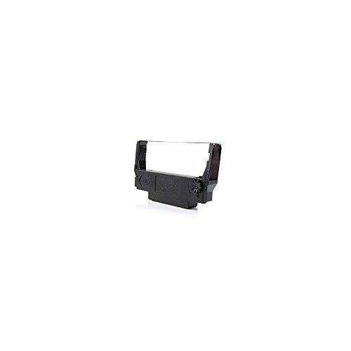 Cinta Epson ERC38 de color negro compatible con impresoras matriciales Epson TM-U300, U220, U210, U230, U370, ERC30 y ERC-38. Dimensiones: 5 m x 12,7 mm; C43S015374