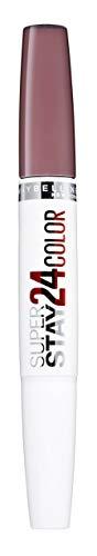 Maybelline Superstay 24H Lippenstift Nr. 310 Bois de Mauve, farbintensiver, flüssiger Lippenstift mit bis zu 24 Stunden Halt, patentierte Micro-Flex-Formel, mit integriertem Pflegebalsam, 5 g