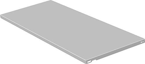 Element System 10700-00027 Stahlfachboden Regalboden / 2 Stück/B x T = 80 x 35 cm/weiß/für Wandschiene und Pro-Regalträger
