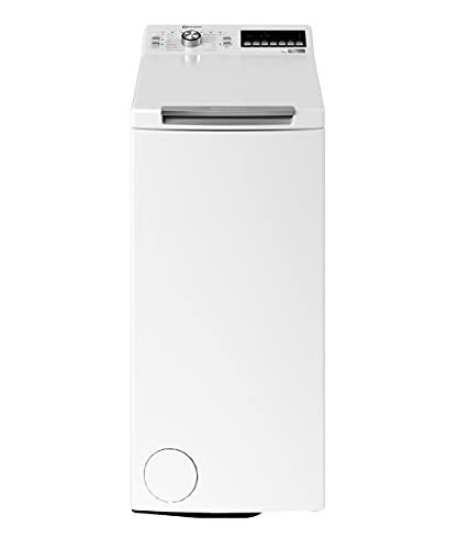 Bauknecht WMT Style 722 ZEN N Toplader-Waschmaschine / 7 kg / 1152 UpM/FreshFinish/ZEN Technology/Startzeitvorwahl/SoftOpening/Kurz 30\'/ 15° Green& Clean, Weiß