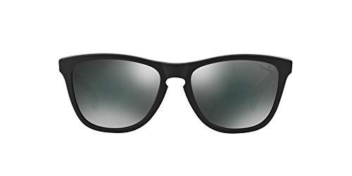 Oakley Unisex-Erwachsene Frogskins 24-420 55 Sonnenbrille, Schwarz (Matte Carbon/Black Iridium)