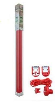 REAL STAR Estor Enrollable translúcido Liso (Rojo, 135x180cm)