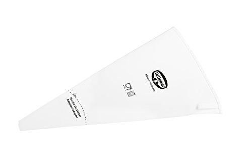 Dr. Oetker Spritzbeutel Baumwolle 40 cm, Spritztüte aus der Tüllen-Manufaktur, Backzubehör zum Dekorieren und Verzieren (Farbe: weiß), Menge: 1 Stück