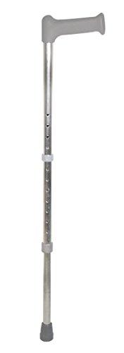 Days standaard wandelstok, in hoogte verstelbare loophulp van aluminium voor mobiel apparaat voor meer grip en stabiliteit, anti-slip voet en comfortabele vorm Palstic grip