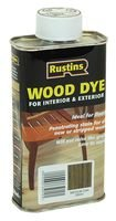 Best Price Square Wood Dye Medium Oak 250ML WDMO250 by RUSTIN'S
