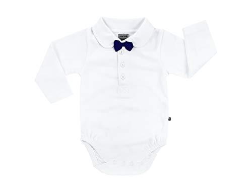 Jacky Bodyhemd für Jungen mit Schleife, Größe: 62, Alter: 2-3 Monate, Weiß, 150062