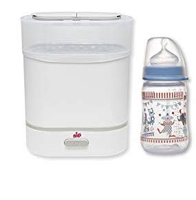 nip set: 1x Vaporisator 3in1 + 1x Babyflasche Weithals mit Anti-Kolik Sauger, Silikon, Einheitsgröße, Saugloch M-mittlerer Trinkfluss, 260 ml, Boy