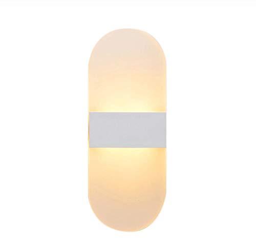 Moderne wandlamp led indoor wandlampen led wandkandelaar lamp verlichting voor slaapkamer woonkamer trap spiegel licht rond acryl mat wit warm wit 1