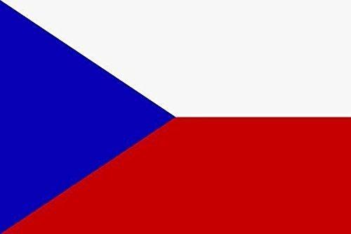 U24 Aufkleber Tschechien Flagge Fahne 8 x 5 cm Autoaufkleber Sticker