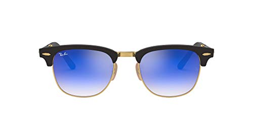 Ray-Ban Clubmaster Folding 901S7Q Gafas de Sol, Matte Black, 51 Unisex-Adulto