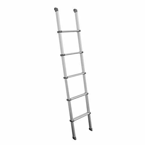 Taburete escalera Escalera De Litera De Aluminio para Autocaravanas De 60 Pulgadas con Ganchos, Escalera De Cama Antideslizante De 5 Pasos para Interiores para Loft, Dormitorio, Casa Pequeña Y Puerta