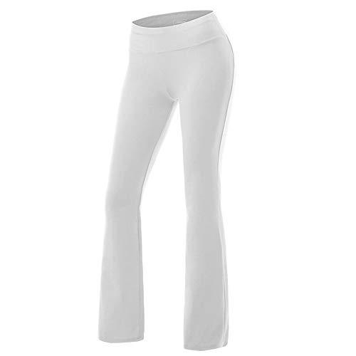 IBAKOM - Leggings de Yoga para Mujer, Cintura Alta, Pantalones Largos para Entrenamiento, Gimnasio, Correr Blanco Blanco M