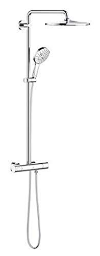GROHE Rainshower SmartActive 310 | Duschsystem inkl. 450 mm Duscharm, Kopfbrause, Handbrause, Brauseschlauch 1.750 mm, EcoJoy 9,5 l/min | chrom | 26648000
