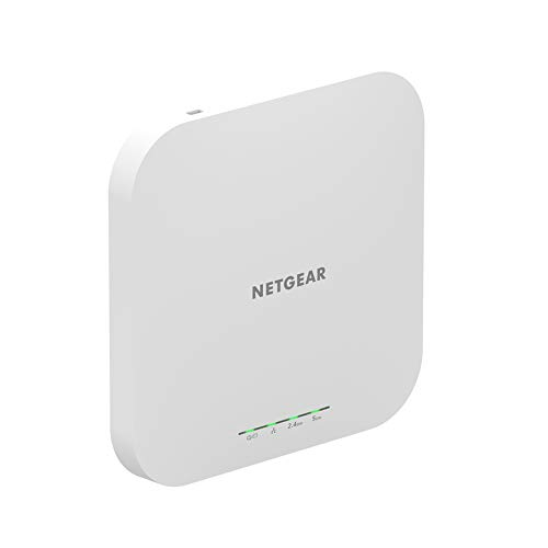 NETGEAR Wireless Access Point (WAX610) - WiFi 6 Dual-Band AX1800 Speed | Up to 250 Client Devices | 1 x 2.5G Ethernet LAN Port | 802.11ax | Insight Remote Management | PoE+ or Optional Power Adapter
