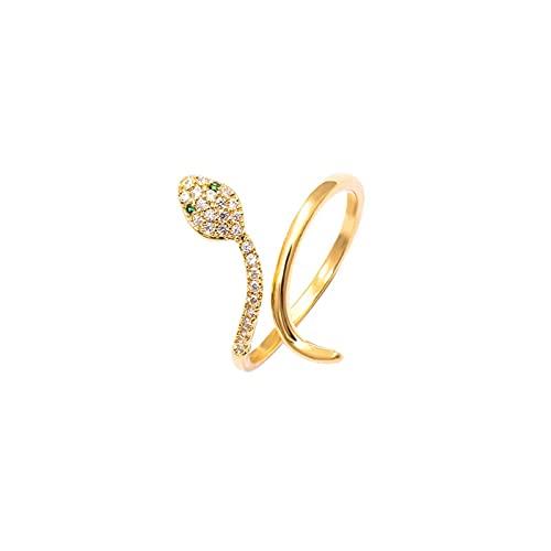 Nuovo Design Senso Zircone A Forma di Serpente Aperto Anello da Donna Moda Esagerazione Gioielli Anelli da Ragazza di Lusso per Matrimoni