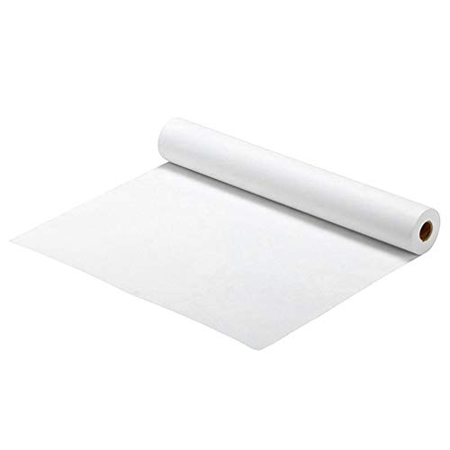 NUOBESTY Pintura en Blanco Rollo de Papel Reemplazo Boceto Papel Arte Caballete Papel Graffiti Papel de Dibujo Pintura Profesional Papel Construcción Papel Artistas Accesorios Blanco