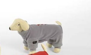 Dog Line Hundeoverall Star Fleeceoverall für Hunde Hundeanzug (43, grau)