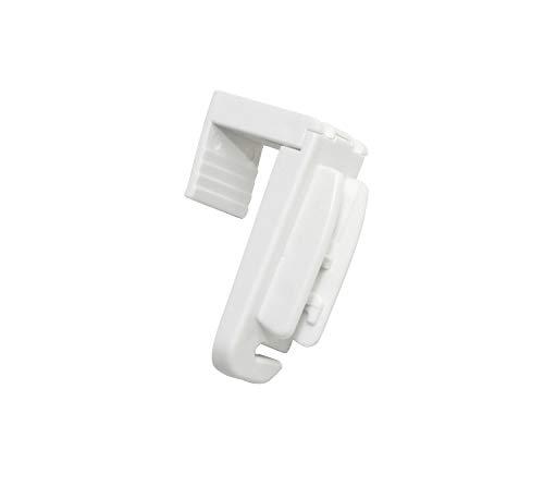 Wohnidee Plissee-Falzklemmträger, Montage ohne Bohren und Schrauben, Kunststoff, Weiß, 4 Stück