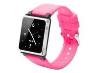 iWatchz QPINKRUBIPN6G Iwatchz Q - Reloj de pulsera para iPod Nano 6 (silicona), color rosa