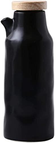 Botella De Cerámica Para Aceite De Vinagre Botella De Aceite Botella De Vinagre Dispensador De Salsa Recipiente De Especias A Prueba De Fugas Botella De Especias-Schwarz