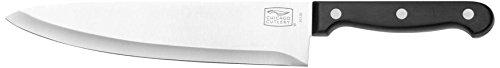 Chicago Cutlery - Cuchillo de Cocinero, de Acero Inoxidable, Modelo Essentials, con Mango de polímero con Tres Remaches, 20,3 cm, Color Negro